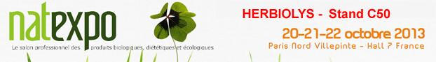 Natexpo 2013 - Retrouvez l'équipe d'Herbiolys