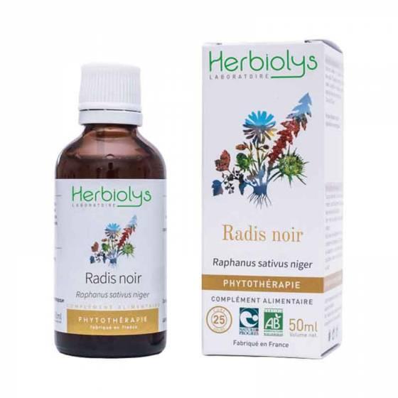 Teinture mère de Radis noir frais BIO - Phytothérapie Herbiolys