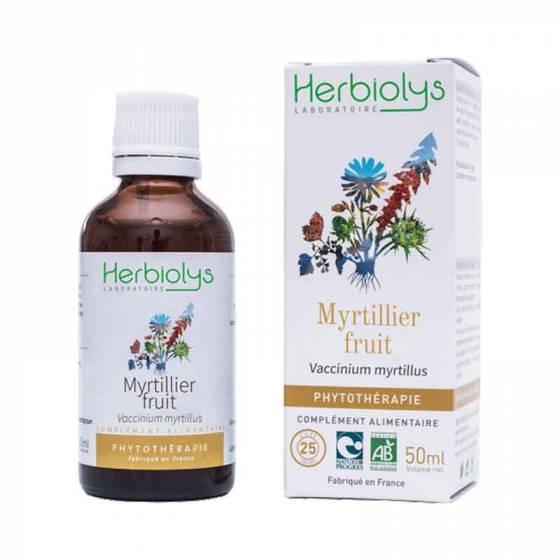 Teinture mère de Myrtillier fruit (Myrtille) frais BIO - Phytothérapie Herbiolys
