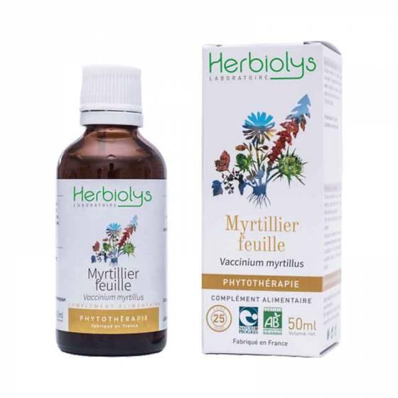 Teinture mère Myrtillier feuille fraîche BIO - Phytothérapie Herbiolys