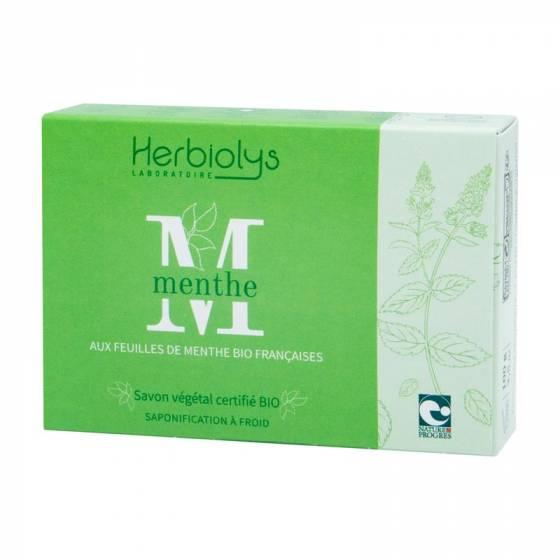 Savon à froid Menthe certifié BIO Nature & Progrès – Herbiolys