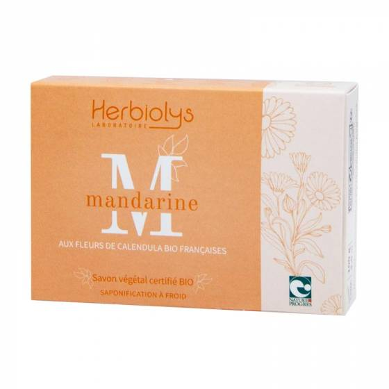 Savon à froid Mandarine certifié BIO Nature & Progrès – Herbiolys