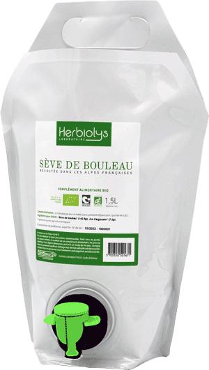Herbiolys Sève de bouleau bio des Alpes françaises Détox