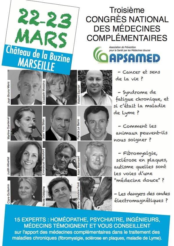 Congrès des Médecines complémentaires 22 et 23 Mars à Marseille