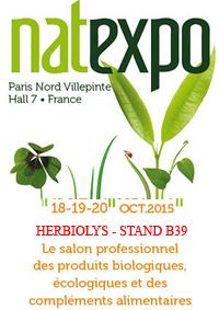 Banière Natexpo 2015 Paris - Herbiolys