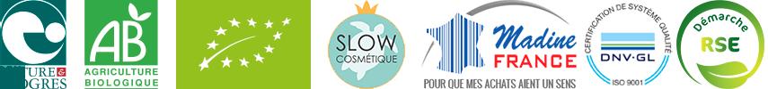 Nature & découverte; Agriculture Biologique; Slow cosmetiques; Madine france