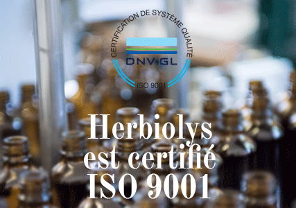 Herbiolys Laboratoire certifié ISO 9001 !